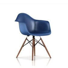 Eames Molded Fiberglass Armchair with Dowel Base