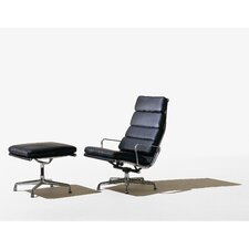 <strong>Herman Miller ®</strong> Eames Soft Pad Group Chair and Ottoman