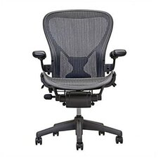 Aeron Chair by Herman Miller - Official Retailer - Highly Adjustable Graphite Frame - with PostureFit - Carbon Classic (Medium)