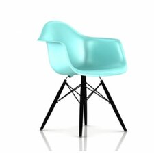 <strong>Herman Miller ®</strong> Eames DAW - Molded Plastic Armchair with Dowel-Leg Base