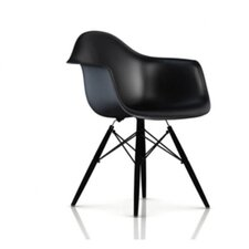 Eames DAW - Molded Plastic Armchair with Dowel-Leg Base