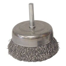 "1/2"" Coarse Wire Utility Cup Brush With 1/4"" Stem"