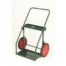 Model 314-27 Continuous Handle Cylinder Cart With Semi Pneumatic Wheels With Ball Bearings