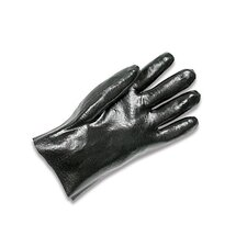 "Black 10"" Economy PVC Glove Fully Coated With Rough Finish Palm"
