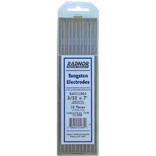 "3/32"" X 7"" Ground Finish 2% Lanthanated Tungsten Electrode (10 Per Package)"