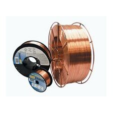 "<strong>Radnor</strong> 0.035"" ER70S-6 Radnor® P/3™ S-6 Copper Coated Carbon Steel MIG Welding Wire 2 4"" Plastic Spool"
