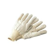 12 Ounce Economy Cotton Canvas Work Glove With Knitwrist And Straight Thumb
