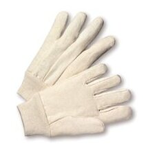 12 Ounce Premium Cotton Canvas Work Glove With Knitwrist And Straight Thumb