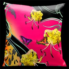 Butterflies and Tiger Lily Pillow