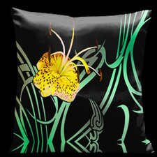 <strong>Lama Kasso</strong> Butterflies and Beauty Square Satin Pillow