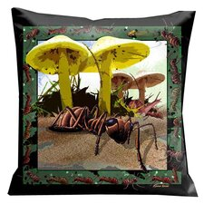 Botanic Fantasy Bugs and Ants Pillow