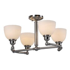 Amelia 4 Light Semi Flush Mount