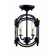 Hastings 2 Light Semi Flush Mount