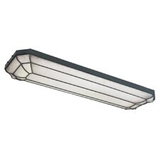 Fluorescent Linear 4 Light Flush Mount