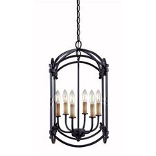 <strong>World Imports</strong> Iron 6 Light Hanging Lantern