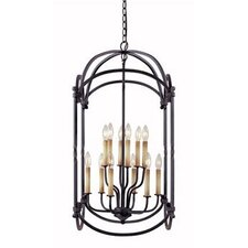 Iron 12 Light Hanging Lantern
