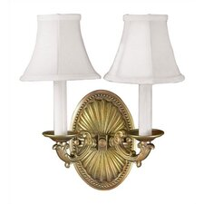 Candelabra 2 Light Wall Sconce