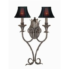 Sophisticated Iron 2 Light Wall Sconce