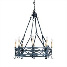 Iron Works 8 Light  Chandelier
