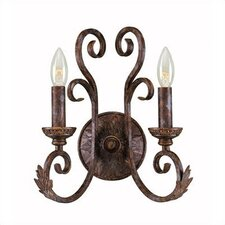 <strong>World Imports</strong> Medici 2 Light Wall Sconce