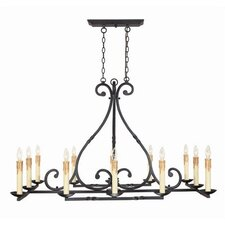 Inspirational Iron 12 Light Chandelier