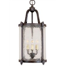 Old World Classic 3 Light Indoor/Outdoor Hanging Lantern
