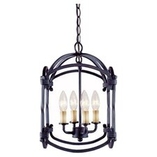 Iron 4 Light Hanging Lantern