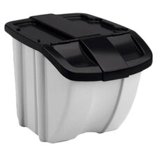Storage Trends 18 Gallon Industrial Recycling Bin (Set of 2)