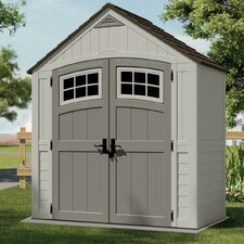 "Cascade 7'38"" W x 3'93"" D Resin Storage Shed"