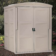 "5'5"" W x 5'6"" D Resin Tool Shed"