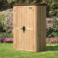 "4'8"" W x 2'6"" D Vertical Cedar Tool Shed"