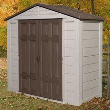 "10' W x 7'5"" D Plastic Tool Shed"