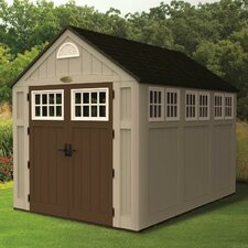 "Alpine 7'5"" W x 10' D Resin Storage Shed"
