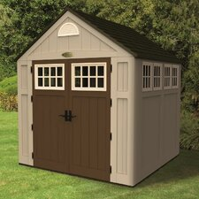 "Alpine 7'5"" W x 7' D Resin Storage Shed"