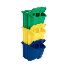 18 Gallon Multi Compartment Recycling Bin (Set of 3)
