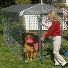 Lucky Dog Galvanized Steel Yard Kennel