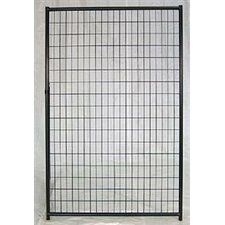 Lucky Dog Powder Coated Pet Gate with Panel