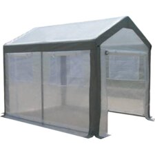 "Spring Gardener 6' 6"" H x 5' W x 5' D Polyethylene 8 mm Gable Greenhouse"