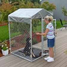 <strong>Jewett Cameron</strong> Lucky Dog Galvanized Steel Chain Link Yard Kennel