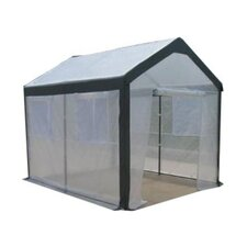 Spring Gardener 8' H x 8' W x 10' D Polyethylene 8 mm Gable Greenhouse