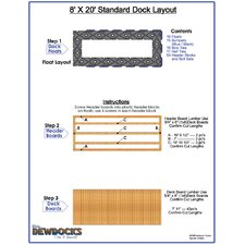 "96"" x 240"" Standard Dock Layout"