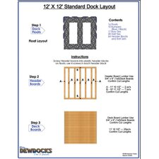 "144"" x 144"" Standard Dock Layout"