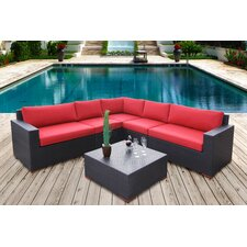 Pasadina Conversation Sectional 6 Piece Deep Seating Group with Cushions