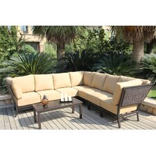 Monterey Conversation Sectional 8 Piece Deep Seating Group with Cushions