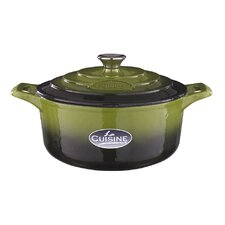 Cast Iron 24cm Round Casserole in Olive Green