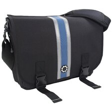 Center Stripe Messenger Diaper Bag