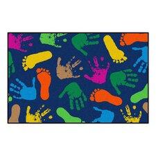 Hand Prints Kids Rug