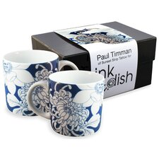 <strong>Ink Dish</strong> Tattoo Lotus 2 Mug Gift Set