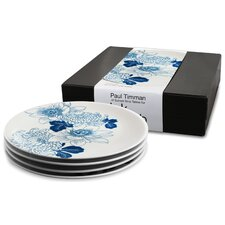<strong>Ink Dish</strong> Tattoo Lotus 4 Side Plate Gift Set