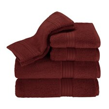 Kassadesign 6 Piece Towel Set in Garnet Red